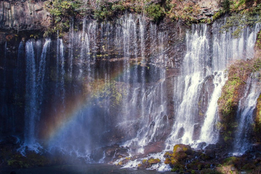 白糸の滝滝つぼ付近
