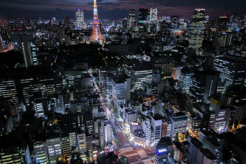 浜松町・大門方面夜景