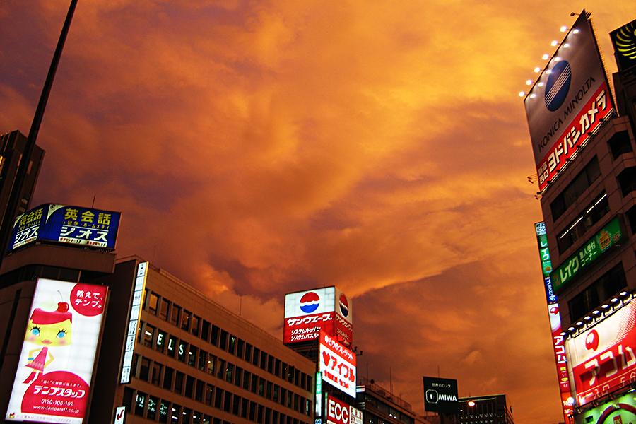 新宿区の夕焼け写真