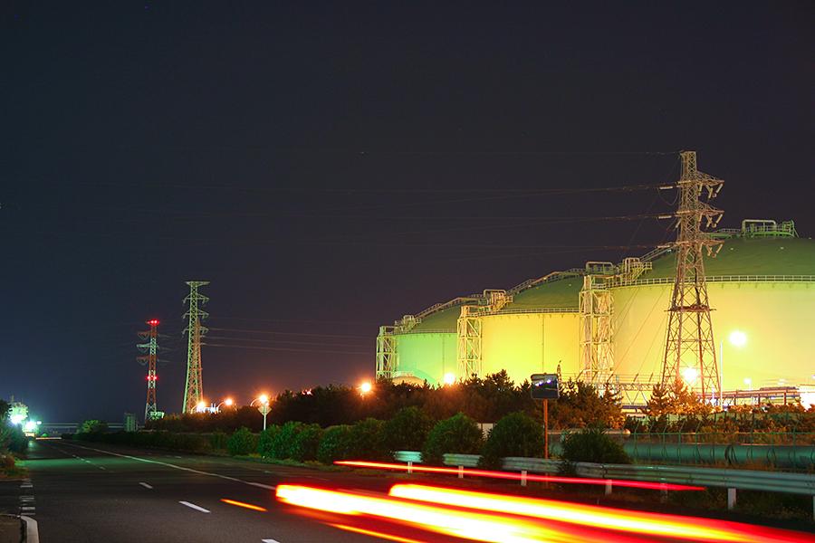 鹿島工業地帯タンク群